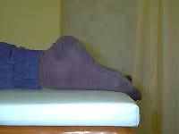 左の足首が曲がらない 当院施術後